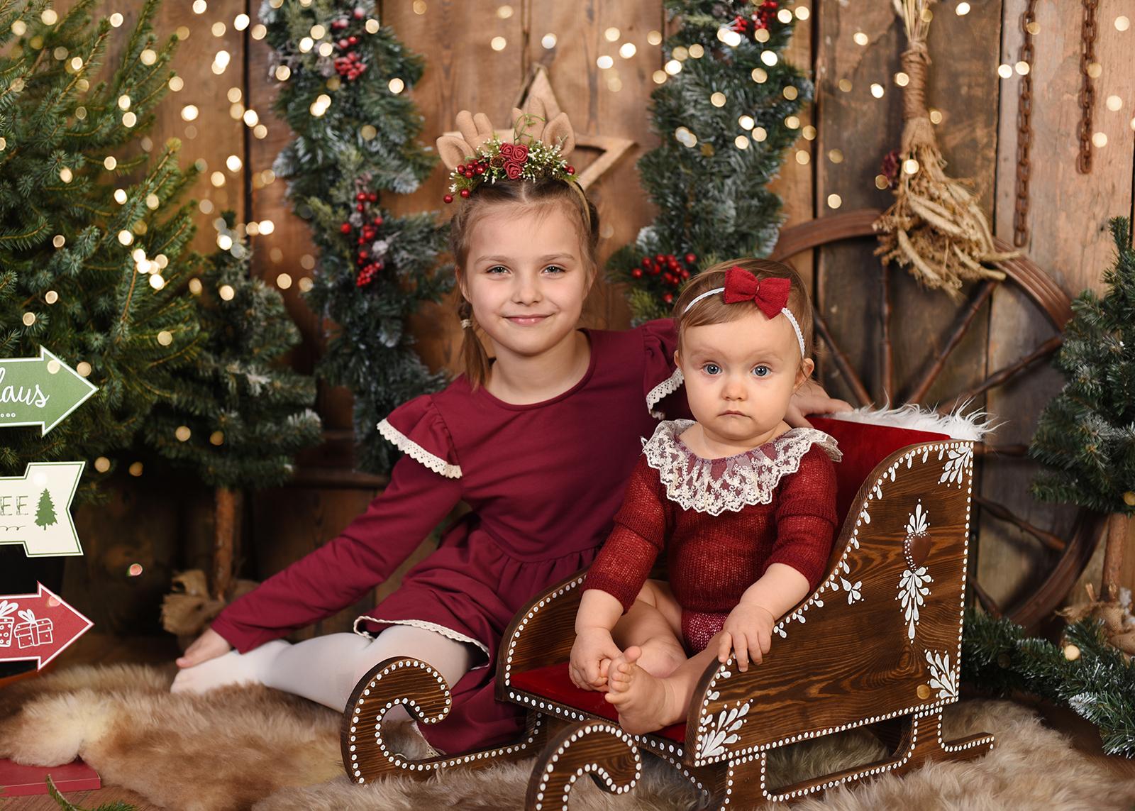 Sesja Świąteczna 2019 - Oliwia i Zuzia